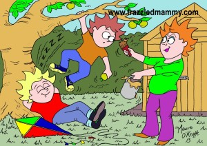 Cartoons from www.frazzledmammy.com, illustrator, Cork,